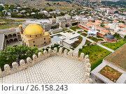Купить «View on Rabati Castle from citadel in Akhaltsikhe, Georgia», фото № 26158243, снято 29 сентября 2016 г. (c) Elena Odareeva / Фотобанк Лори