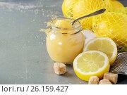 Homemade lemon curd. Стоковое фото, фотограф Natasha Breen / Фотобанк Лори