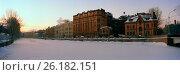 Купить «Санкт-Петербург, набережная реки Мойки зимним утром», фото № 26182151, снято 17 сентября 2019 г. (c) glokaya_kuzdra / Фотобанк Лори