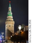Купить «Водовзводная башня Московского Кремля», фото № 26182959, снято 1 января 2017 г. (c) Илья Бесхлебный / Фотобанк Лори