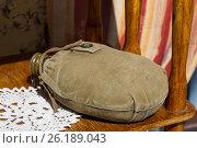 Купить «Солдатская фляга», эксклюзивное фото № 26189043, снято 6 мая 2017 г. (c) Михаил Ворожцов / Фотобанк Лори