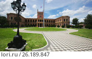 Palacio de los Lopez official residence of government and President of Paraguay. Asuncion, Paraguay (2017 год). Стоковое видео, видеограф Яков Филимонов / Фотобанк Лори
