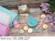 Купить «Items for spa», фото № 26208227, снято 8 мая 2017 г. (c) Типляшина Евгения / Фотобанк Лори
