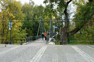 Кронштадт, Макаровский пешеходный мост над Петровским оврагом
