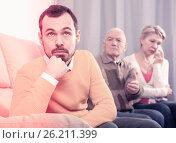 Купить «Parents arguing with son», фото № 26211399, снято 19 марта 2019 г. (c) Яков Филимонов / Фотобанк Лори