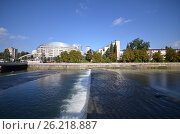 Купить «Cityscape of Sochi and river Sochi», фото № 26218887, снято 22 сентября 2014 г. (c) Александр Карпенко / Фотобанк Лори