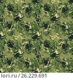 Seamless background of a camouflage. Стоковая иллюстрация, иллюстратор Миронова Анастасия / Фотобанк Лори