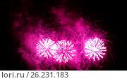 Фейерверк. Световые декоративные огни. Стоковое видео, видеограф Василий Мальцев / Фотобанк Лори