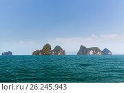 Купить «krabi island cliffs in ocean water at thailand», фото № 26245943, снято 13 февраля 2015 г. (c) Syda Productions / Фотобанк Лори