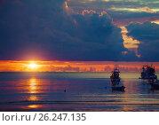 Купить «beautiful sunset», фото № 26247135, снято 18 июня 2019 г. (c) Виктор Застольский / Фотобанк Лори
