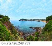 Купить «Summer La Fosca beach, Palamos, Spain.», фото № 26248759, снято 23 февраля 2019 г. (c) Юрий Брыкайло / Фотобанк Лори