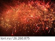 Купить «Салют 9 мая 2017 года. Москва», фото № 26260875, снято 9 мая 2017 г. (c) Алексей Сварцов / Фотобанк Лори