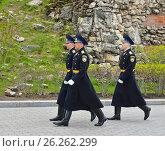 Купить «Гвардейцы Президентского полка в парадной форме», фото № 26262299, снято 12 мая 2017 г. (c) Валерия Попова / Фотобанк Лори