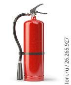 Fire extinguisher isolated on white background. Стоковое фото, фотограф Maksym Yemelyanov / Фотобанк Лори