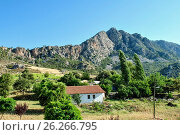 Купить «Small house in a mountainous area», фото № 26266795, снято 2 июля 2012 г. (c) Давидич Максим / Фотобанк Лори