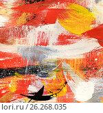 Купить «Абстрактный рисунок, гуашь», иллюстрация № 26268035 (c) Виктор Топорков / Фотобанк Лори