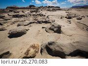Купить «Geological formations in Ischigualasto», фото № 26270083, снято 13 февраля 2017 г. (c) Яков Филимонов / Фотобанк Лори