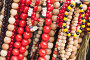 Colorful wooden necklaces and bracelets, фото № 26270235, снято 31 июля 2016 г. (c) Евгений Сергеев / Фотобанк Лори