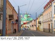 Купить «Белоруссия, город Гродно. Старые улицы», фото № 26295167, снято 25 февраля 2017 г. (c) Валерий Ситников / Фотобанк Лори