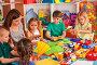 School children with scissors in kids hands cutting paper ., фото № 26295979, снято 25 марта 2017 г. (c) Gennadiy Poznyakov / Фотобанк Лори
