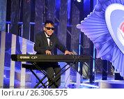 Купить «Российский певец Лудуб Очиров», фото № 26306575, снято 17 февраля 2017 г. (c) Free Wind / Фотобанк Лори