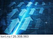 Купить «Composite image of blue matrix and codes», иллюстрация № 26308983 (c) Wavebreak Media / Фотобанк Лори