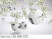 Купить «Composite image of a lot of money throwing in the air», иллюстрация № 26309727 (c) Wavebreak Media / Фотобанк Лори
