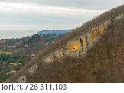 Купить «Абхазия, Новый Афон, побережье», фото № 26311103, снято 3 января 2017 г. (c) Валерий Ситников / Фотобанк Лори