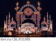 Купить «Winter Christmas festival in Moscow. Russia», фото № 26313095, снято 26 декабря 2015 г. (c) Liseykina / Фотобанк Лори