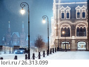 Купить «Winter in Moscow. Russia.», фото № 26313099, снято 11 ноября 2016 г. (c) Liseykina / Фотобанк Лори