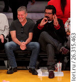 Купить «Celebrities spotted at the Lakers game. The Los Angeles Lakers defeated the Golden State Warriors by the final score of 112-95 at Staples Center Featuring...», фото № 26315463, снято 7 марта 2016 г. (c) age Fotostock / Фотобанк Лори