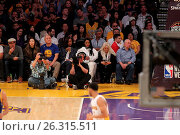 Купить «Celebrities spotted at the Lakers game. The Los Angeles Lakers defeated the Golden State Warriors by the final score of 112-95 at Staples Center Featuring...», фото № 26315511, снято 7 марта 2016 г. (c) age Fotostock / Фотобанк Лори