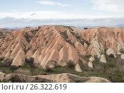 Голубиная долина, розовые скалы, Каппадокия, Турция (2015 год). Стоковое фото, фотограф Юлия Бабкина / Фотобанк Лори