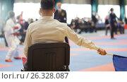 Купить «The man judge in the competition of karate», фото № 26328087, снято 29 мая 2020 г. (c) Константин Шишкин / Фотобанк Лори