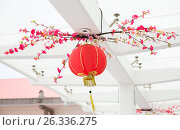 Купить «ceiling decorated with hanging chinese lanterns», фото № 26336275, снято 18 февраля 2015 г. (c) Syda Productions / Фотобанк Лори