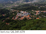 Aerial view to National Palace of Sintra, Portugal, фото № 26341679, снято 10 мая 2017 г. (c) Лиляна Виноградова / Фотобанк Лори
