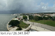 Cityscape of Lisbon, Portugal, видеоролик № 26341847, снято 11 мая 2017 г. (c) Лиляна Виноградова / Фотобанк Лори