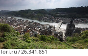 Aerial view of Dinant, Belgium, видеоролик № 26341851, снято 7 мая 2017 г. (c) Лиляна Виноградова / Фотобанк Лори