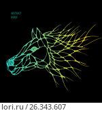 Abstract horse. Vector. Стоковая иллюстрация, иллюстратор Юлия Дакалова / Фотобанк Лори