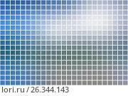 Купить «White blue shades square mosaic background over white», иллюстрация № 26344143 (c) TasiPas / Фотобанк Лори