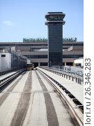 Купить «Шаттл для транспортировки пассажиров в терминал 2, служивший до 2013 года. Аэропорт Нарита, Япония», фото № 26346283, снято 16 апреля 2013 г. (c) Кекяляйнен Андрей / Фотобанк Лори