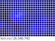 Купить «Dark blue abstract rounded mosaic background over white», иллюстрация № 26346743 (c) TasiPas / Фотобанк Лори