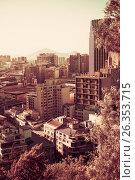 Купить «View of Santiago, capital of Chile», фото № 26353715, снято 11 февраля 2017 г. (c) Яков Филимонов / Фотобанк Лори