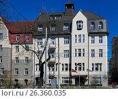 Купить «Riga, Kronvalda boulevard 8, art deco», фото № 26360035, снято 4 мая 2017 г. (c) Andrejs Vareniks / Фотобанк Лори
