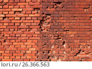 Купить «Брестская крепость. Фрагмент стены», фото № 26366563, снято 20 апреля 2017 г. (c) Дмитрий Грушин / Фотобанк Лори