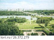 Вид на Москва-реку с высоты. Стоковое фото, фотограф Юрий Коваль / Фотобанк Лори