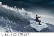 Купить «Surfing sea on ice floe. Mixed media», фото № 26378287, снято 13 июля 2020 г. (c) Sergey Nivens / Фотобанк Лори