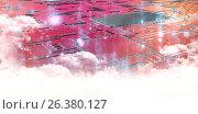 Купить «Composite image of circuit board on white background», иллюстрация № 26380127 (c) Wavebreak Media / Фотобанк Лори