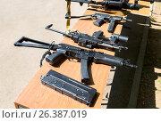 Купить «Российское автоматическое огнестрельное оружие», фото № 26387019, снято 27 мая 2017 г. (c) FotograFF / Фотобанк Лори