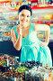 pleased sexy female posing in the store with lolly, фото № 26389563, снято 25 апреля 2017 г. (c) Яков Филимонов / Фотобанк Лори